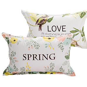 povoljno Jastuci-Navlaka za jastuk - 100% pamuk Reactive Print Cvjetni print 2kom jastučnice