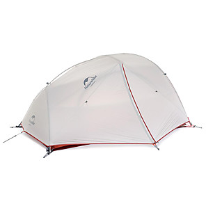 cheap Tents, Canopies & Shelters-Naturehike 2 person Backpacking Tent Outdoor Waterproof Windproof Ultra Light (UL) Double Layered Poled Dome Camping Tent >3000 mm for Camping / Hiking Cycling / Bike Traveling 215*255*110 cm