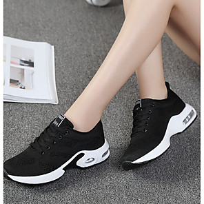 cheap Tattoo Stickers-Women's Trainers / Athletic Shoes Comfort Shoes Sporty Daily Going out Outdoor Solid Colored Knit Running Shoes / Walking Shoes Black / Purple / Red