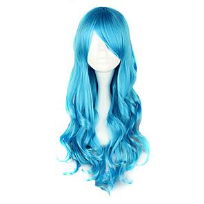 cheap Synthetic Trendy Wigs-Cosplay Wigs Women's 28 inch Heat Resistant Fiber Blue Anime / Classic Lolita Dress