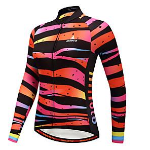 cheap Cycling Jerseys-Miloto Women's Long Sleeve Cycling Jersey Winter Fleece Polyster Camouflage Plus Size Bike Jersey Top Mountain Bike MTB Road Bike Cycling Sports Clothing Apparel / Stretchy