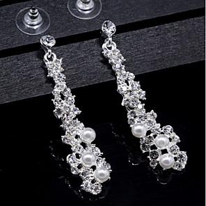 cheap Earrings-Women's Crystal Drop Earrings Basic Elegant Pearl Earrings Jewelry Gold / Silver For Wedding Daily