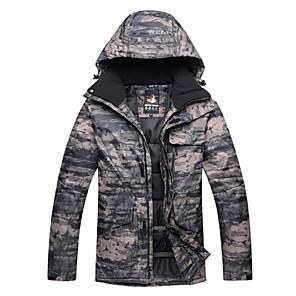 cheap Flashlights & Camping Lanterns-Men's Ski Jacket Ski / Snowboard Winter Sports Thermal / Warm Windproof Skiing Winter Jacket Ski Wear / Floral Botanical