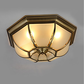 cheap Flush Mounts & Semi Flush Mounts-4-Light 50 cm Mini Style Flush Mount Lights Metal Glass Oil-rubbed Bronze Traditional / Classic 110-120V / 220-240V / E26 / E27