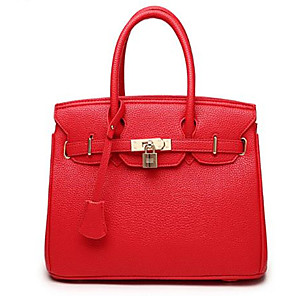 povoljno Tote torbe-Žene Patent-zatvarač Kravlja koža Tote torbica Crn / Plava / Red