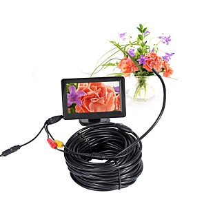 cheap CCTV Cameras-5.5mm Lens AV Endoscope Camera Mini Camera 5V NTSC Waterproof IP66 15m Inspection Borescope Snake Camera Night Vision