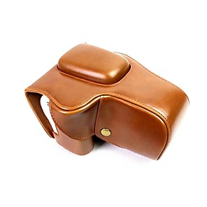 cheap Bags & Cases-Dengpin PU Leather Camera Case Bag Cover for Canon EOS 200D 18-55mm lens (Assorted Colors)