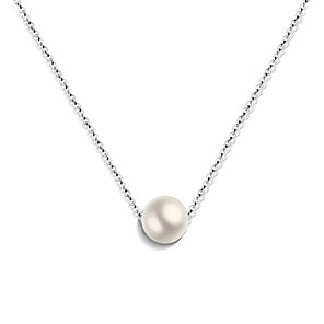 cheap Earrings-Women's Pearl Pendant Necklace Floating Ladies Fashion Cute Pearl Stainless Steel Rose Gold White Gold Necklace Jewelry For Gift Engagement