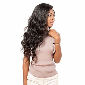 cheap Human Hair Wigs-Remy Human Hair Glueless Full Lace Full Lace Wig style Brazilian Hair Body Wave Wig 130% 150% 180% Density with Baby Hair African American Wig Women's Short Medium Length Long Human Hair Lace Wig
