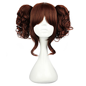 cheap Lolita Wigs-Cosplay Wigs Women's 14 inch Heat Resistant Fiber Black Brown Anime / Classic Lolita Dress