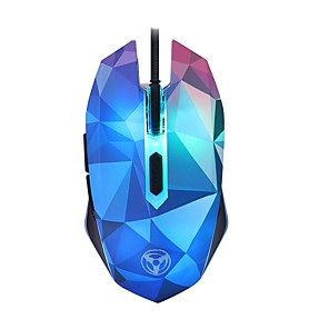 cheap Mouse Pad-LITBest W39 Led Breathing Light Wired USB Gaming Mouse Optical 4 Adjustable DPI Levels 1000/1600/2400/3200 dpi 6 Key