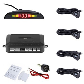 cheap Car Headlights-ZIQIAO® Car Auto Park Tronic LED Parking Sensor With 4 Sensors Reverse Backup Car Parking Radar Monitor Detector System Backlight Display