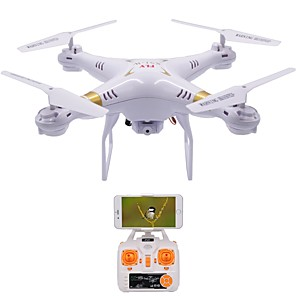 cheap RC Drone Quadcopters & Multi-Rotors-RC Drone X51-W 4CH 6 Axis 2.4G With HD Camera 1.0MP 1080P*720P RC Quadcopter LED Lights / One Key To Auto-Return / Failsafe RC Quadcopter / Remote Controller / Transmmitter / USB Cable / 360°Rolling