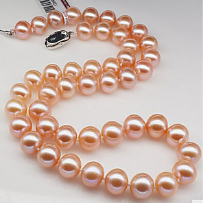cheap Earrings-Women's Pearl Choker Necklace Pearl White Pink Necklace Jewelry For Birthday Gift Daily Valentine Office & Career