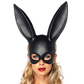 cheap Historical & Vintage Costumes-Halloween Mask Masquerade Mask Animal Mask Rabbit Novelty Romance Rabbit Animal Cowgirl Adults' Boys' Girls' Toy Gift 1 pcs