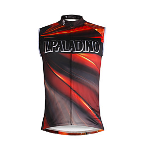 cheap Cycling Jerseys-ILPALADINO Men's Sleeveless Cycling Jersey Jacinth +Gray Rainbow Bike Vest / Gilet Jersey Tank Top Mountain Bike MTB Road Bike Cycling Quick Dry Sports Clothing Apparel / Stretchy
