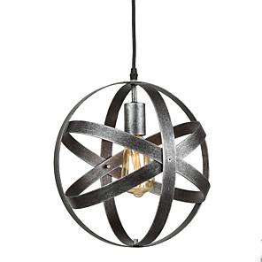 cheap Pendant Lights-1-Light Vintage Industrial Metal Spherical Pendant Lights Dining Room Kitchen Cafe Hanging Lighting Fixture Painted Finish