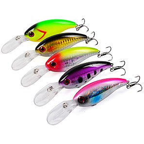 cheap Fishing Lures & Flies-5 pcs Fishing Lures Hard Bait Sinking Bass Trout Pike Sea Fishing Bait Casting Lure Fishing Plastic
