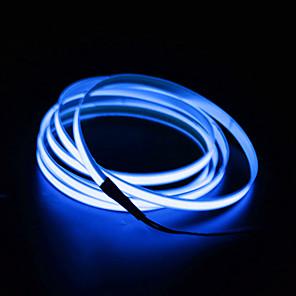 levne Neonová LED světla-BRELONG® 2m 0 LED diody EL 2,3 mm 1ks Bílá Červená Modrá Voděodolné Samolepící Neonový elektroluminiscenční drát