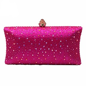 cheap Clutches & Evening Bags-Women's Crystals Polyester Evening Bag Black / Yellow / Blushing Pink