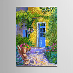 cheap Abstract Paintings-Oil Painting Hand Painted - Landscape Modern Stretched Canvas