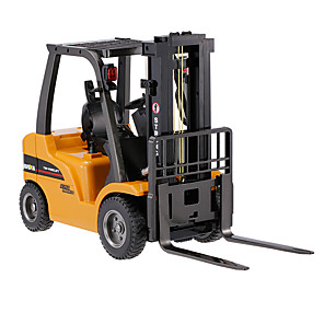 cheap RC Cars-RC Car HUINA 1577 8 Channel 2.4G Forklift / Construction Truck 1:10 Remote Control / RC / Rechargeable / Electric