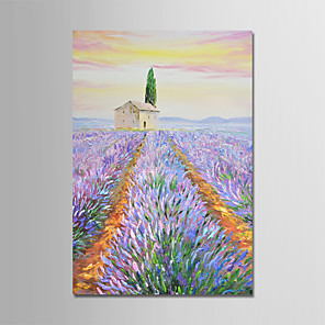 cheap Abstract Paintings-Oil Painting Hand Painted - Landscape Modern Canvas / Stretched Canvas