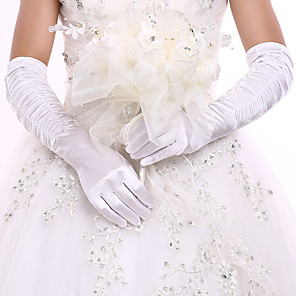 cheap Party Gloves-Spandex Fabric Opera Length Glove Classic Style / Bridal Gloves / Party / Evening Gloves With Ruffles