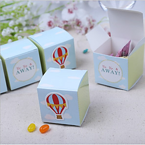 cheap Favor Holders-Cubic Card Paper Favor Holder with Pattern Favor Boxes