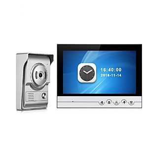 cheap Video Door Phone Systems-9 Inch Color Recording Monitor Video Door Phone Intercom System with Waterproof Cover Outdoor CMOS Camera