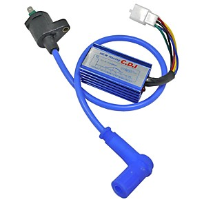 cheap Motorcycle & ATV Parts-Blue Modified Off Road Motorcycle ATV Dirt Pit Bike Racing CDI Ignition Coil Line 125CC