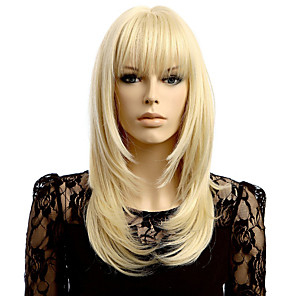cheap Synthetic Trendy Wigs-Synthetic Wig Wavy Wavy Wig Blonde Short Blonde Synthetic Hair Women's Natural Hairline Blonde
