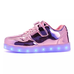 cheap Wedding Wraps-Girls' Sneakers LED / Comfort / LED Shoes PU Little Kids(4-7ys) / Big Kids(7years +) Lace-up / LED / Luminous Black / Red / Pink Fall / Winter / TR / EU36