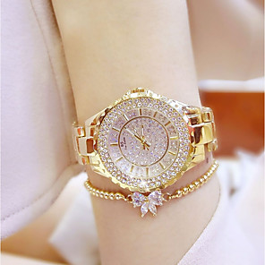 cheap Earrings-Women's Luxury Watches Wrist Watch Diamond Watch Quartz Ladies Casual Watch Stainless Steel Silver / Gold Analog - Gold Silver / Japanese / Japanese