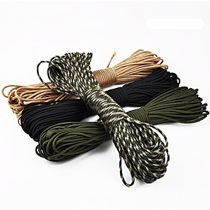 cheap Camping Tools, Carabiners & Ropes-Paracord Bracelet Multitools Ropes Belay & Rappel Devices Multi-function Impact Resistant Nylon Multisport Traveling Black Army Green Camouflage 1 pcs