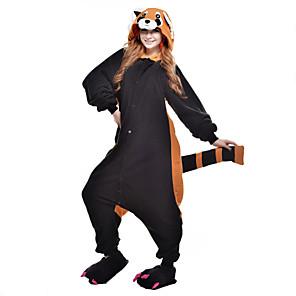 cheap Kigurumi Pajamas-Adults' Kigurumi Pajamas Raccoon Bear Animal Onesie Pajamas Polar Fleece Black Cosplay For Men and Women Animal Sleepwear Cartoon Festival / Holiday Costumes