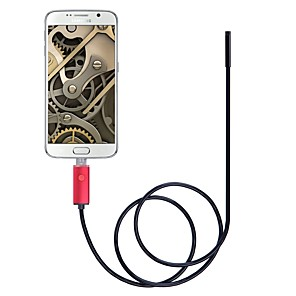 cheap Test, Measure & Inspection Equipment-5.5mm Lens 2 In 1 USB Endoscope Camera IP67 Waterproof Inspection Borescope 2M Length Red For Windows Android Snake Cam