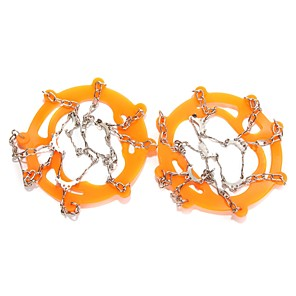cheap Camping Tools, Carabiners & Ropes-Traction Cleats Crampons Antiskid Stainless Steel Silicone Metal Snowsports Black Orange