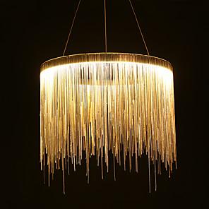 cheap Island Lights-1-Light 50 cm LED / Designers Pendant Light Metal Drum Chrome Modern Contemporary 110-120V / 220-240V