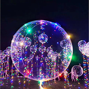 cheap Balloons-LED Lighting Balloon LED Bubble balloon Glow in the Dark Inflatable 3M 18Inch Kid's Adults' for Birthday Gifts and Party Favors  1-15 pcs