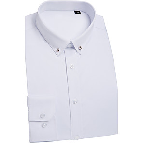 cheap Custom Shirts-Men's Shirt Solid Colored Tops Basic Chinoiserie White Blushing Pink Light Blue