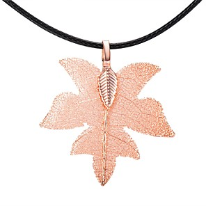 cheap Women's Sandals-Women's Pendant Necklace Chain Necklace Leaf Tree of Life Christmas Tree Classic Vintage European Fashion Silver Plated Gold Plated Rose Gold Plated Gold Black Rose Gold Necklace Jewelry One-piece
