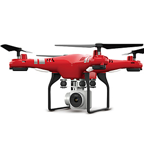 voordelige RC Quadcopters & Multi-Rotors-RC Drone FLYRC X52 RTF 4-kanaals 6 AS 2.4G Met HD-camera 0.3MP 640P*480P RC quadcopter LED verlichting / Terugkeer Via 1 Toets / Auto-Takeoff RC Quadcopter / Afstandsbediening / Camera / Zweven