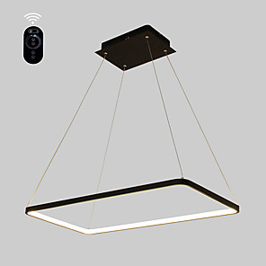 cheap Circle Design-1-Light Ecolight™ 40 cm Bulb Included / Adjustable / Dimmable Pendant Light Metal Acrylic Linear Painted Finishes Modern Contemporary 110-120V / 220-240V