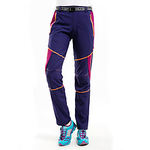 cheap Softshell, Fleece & Hiking Jackets-Women's Hiking Pants Patchwork Summer Outdoor Waterproof Windproof UV Resistant Breathable Pants / Trousers Bottoms Pink / Purple Black Purple Fuchsia Sky Blue Camping / Hiking Hunting Ski / Snowboard