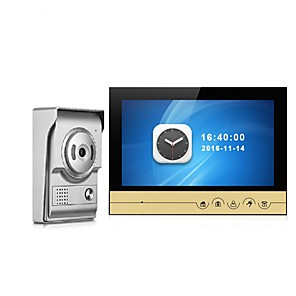 cheap Video Door Phone Systems-9 Inch Color Recording Monitor Video Door Phone Intercom System with Night Vision Camera Door Bell Intercom