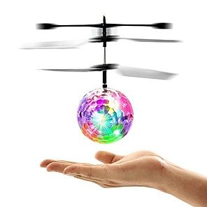 cheap Professional Tattoo Kits-Mini Magic Flying Ball Flying Gadget Light Up Toy Flying Toy Plane / Aircraft Helicopter Spacecraft Remote Control / RC Glow in the Dark LED Flash Lighting Kid's Toy Gift / LED Light / Fluorescent