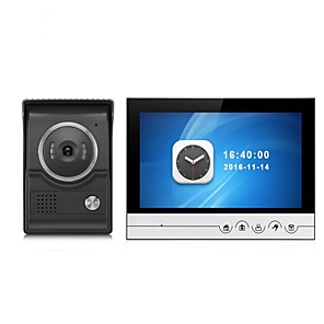 cheap Video Door Phone Systems-Large Screen 9 Inch Color Recording Monitor Video Door Phone Intercom System with CMOS Outdoor Camera