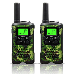 cheap Video Door Phone Systems-Two Way Radio Intercom 22 Channel 3 Miles Long Range Kids Walkie Talkies Boys Girls Toys Gifts Battery Powered Walky Talky with Flashlight for Outdoor Adventure Camping (Camo)