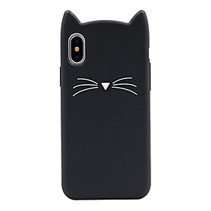 cheap iPhone Cases-Case For Apple iPhone X / iPhone 8 Plus / iPhone 8 Pattern Back Cover Cat / Cartoon Soft Silicone